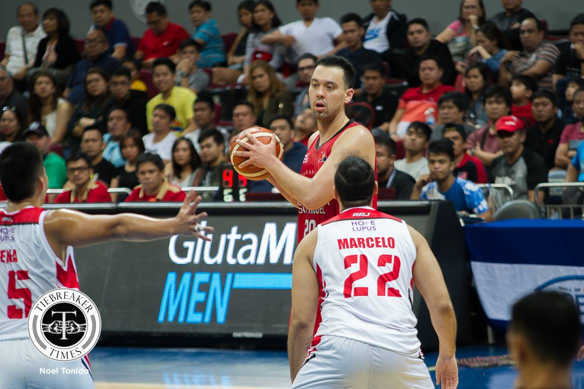 Philippine Sports News - Tiebreaker Times Greg Slaughter laments after first loss: 'We can't come out resting on our laurels' Basketball News PBA  PBA Season 43 Greg Slaughter Barangay Ginebra San Miguel 2017-18 PBA Philippine Cup