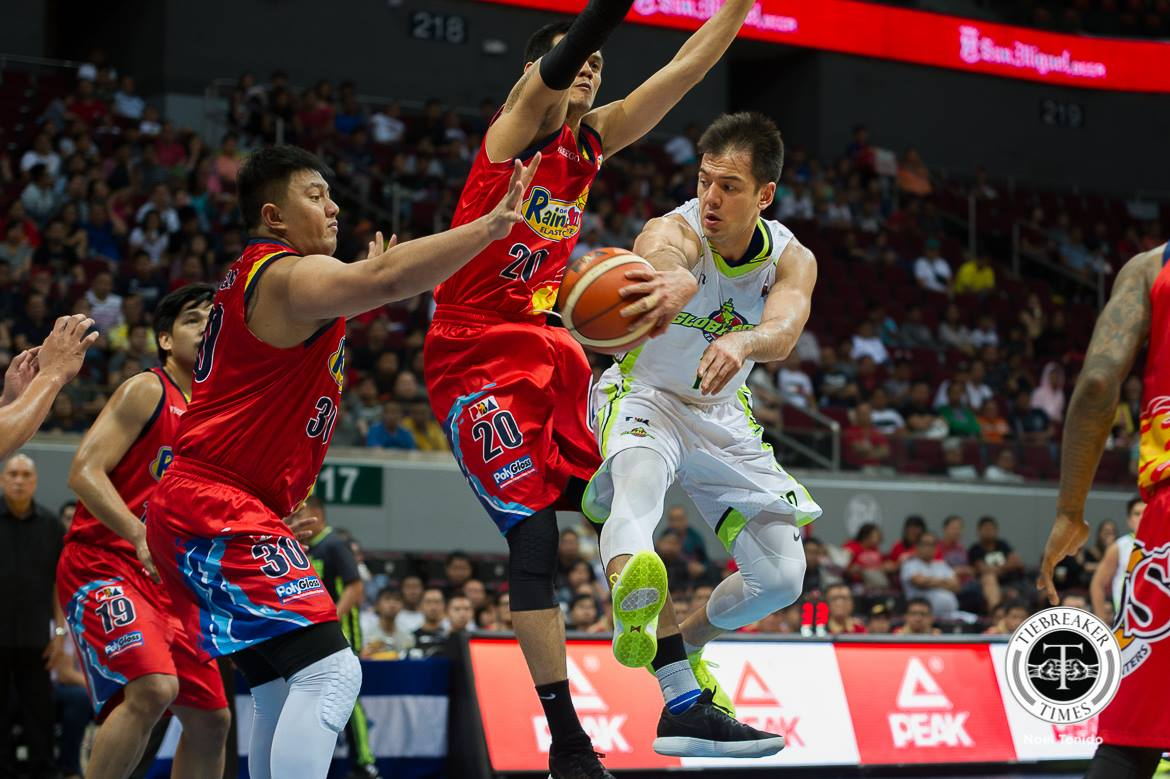 Philippine Sports News - Tiebreaker Times Sean Anthony picks up rare double-double Basketball News PBA  Sean Anthony Pido Jarencio PBA Season 43 Globalport Batang Pier 2017-18 PBA Philippine Cup