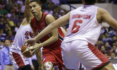 Tiebreaker Times Alaska completes turnaround at Greg Slaughter-less Ginebra's expense Basketball News PBA  Vic Manuel Tim Cone Sonny Thoss Scottie Thompson PBA Season 43 Kevin Ferrer JVee Casio Japeth Aguilar Chris Banchero Barangay Ginebra San Miguel Aljon Mariano Alex Compton Alaska Aces 2017-18 PBA Philippine Cup