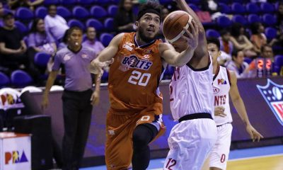 Tiebreaker Times Meralco sends Kia crashing back down with 29-point rout Basketball News PBA  Ricky Dandan Rashawn McCarthy PBA Season 43 Norman Black Meralco Bolts Kia Picanto KG Canaleta Jon Gabriel Jared Dillinger Baser Amer Anjo Caram 2017-18 PBA Philippine Cup