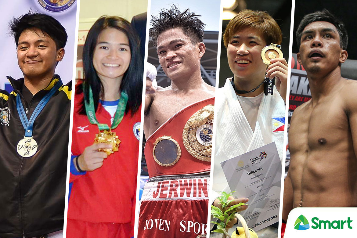 Tiebreaker Times SMART Sports' Best of 2017: Pound for Pound Boxing Brazilian Jiu Jitsu Judo Mixed Martial Arts ONE Championship Taekwondo  UST Men's Taekwondo UAAP Season 80 Men's Taekwondo Team Lakay Rodolfo Reyes Jr Meggie Ochoa Mariya Takahashi Kiyomi Watanabe Kevin Belingon Jerwin Ancajas Annie Ramirez 2017 SEA Games - Taekwondo 2017 SEA Games - Judo 2017 Asian Indoor and Martial Arts Games