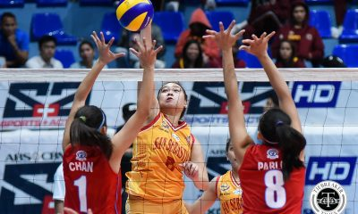 Tiebreaker Times San Sebastian avoids Lyceum upset; Letran picks up quick win CSJL EAC LPU NCAA News SSC-R Volleyball  Shannai Requirme San Sebastian Women's Volleyball Roger Gorayeb Rocelyn Hongria Nikka Dalisay NCAA Season 94 Women's Volleyball NCAA Season 94 Manuela Larioque Lyceum Women's Volleyball Letran Women's Volleyball Jaylene Lumbo Janelle Bermillo Emil Lontoc EAC Women's Volleyball Brian Esquibel Bien Juanillo Alexis Sison