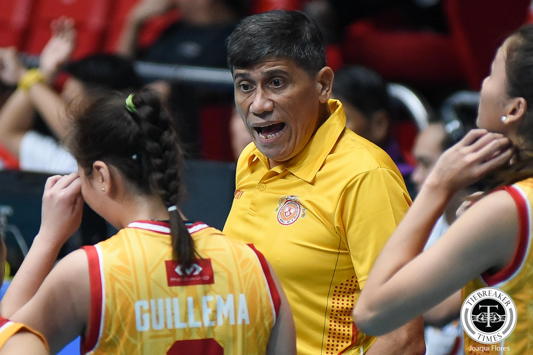 Philippine Sports News - Tiebreaker Times Eight-woman Lady Stags in survival mode NCAA News SSC-R Volleyball  San Sebastian Women's Volleyball Roger Gorayeb NCAA Season 93 Women's Volleyball NCAA Season 93