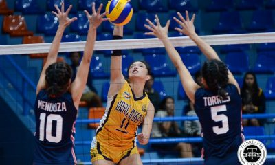 Tiebreaker Times Shola Alvarez scores 30, puts Lady Bombers near playoff berth CSJL JRU NCAA News Volleyball  Shola Alvarez NCAA Season 93 Women's Volleyball NCAA Season 93 Mike Inoferio Mia Tioseco MG Rivera Letran Women's Volleyball JRU Women's Volleyball Glayssa Torres Dolly Verzosa Annie Macaraya