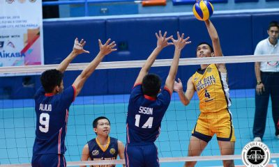 Tiebreaker Times Heavy Bombers detonate Knights for first win CSJL JRU NCAA News Volleyball  Wilbert Cebrero Wenjo Lahaylahay Ryan Dela Paz Patrick Rabaja NCAA Season 93 Men's Volleyball NCAA Season 93 Melvyn Defensor Letran Men's Volleyball JRU Men's Volleyball John Flor Brian Esquibel Bobby Gatdula