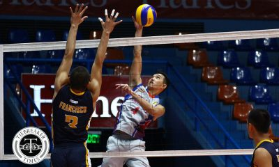 Tiebreaker Times Arellano blasts San Sebastian for solo second AU NCAA News SSC-R Volleyball  Sherwin Meneses San Sebastian Men's Volleyball Roi Domingo NCAA Season 93 Men's Volleyball NCAA Season 93 Kevin Liberato Joshua Esguerra John Blanco Francis Ronato Edmark Meneses Clint Malazo Arellano Men's Volleyball