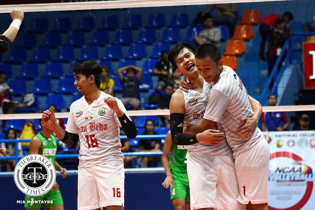Tiebreaker Times San Beda crushes Lyceum for fifth win LPU NCAA News SBC Volleyball  San Beda Men's Volleyball Rodeo Casin Nes Pamilar NCAA Season 93 Men's Volleyball NCAA Season 93 Mark Enciso Lyceum Men's Volleyball Lorenze Santos Limuel Patenio Jhonel Badua JC Desuyo Emil Lontoc Adrian Viray