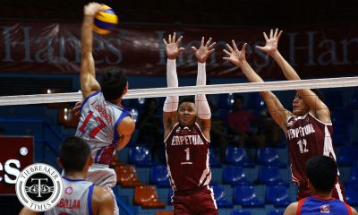 Tiebreaker Times Unscathed Altas on another plane, hands Chiefs first loss AU NCAA News UPHSD Volleyball  Warren Catipay Sherwin Meneses Sammy Acaylar Rey Taneo Perpetual Men's Volleyball NCAA Season 93 Men's Volleyball NCAA Season 93 John Joseph Cabillan John Cabillan Joebert Almodiel Jack Kalingking Arellano Men's Volleyball