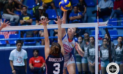 Tiebreaker Times Lady Chiefs stamp class against Lady Knights, extend streak to 15 AU CSJL NCAA News Volleyball  Sarah Verutiao Regine Arocha Obet Javier Necole Ebuen NCAA Season 93 Women's Volleyball NCAA Season 93 Mike Inoferio Letran Women's Volleyball Glayssa Torres Faye Flores Cherry Buemia Arellano Women's Volleyball