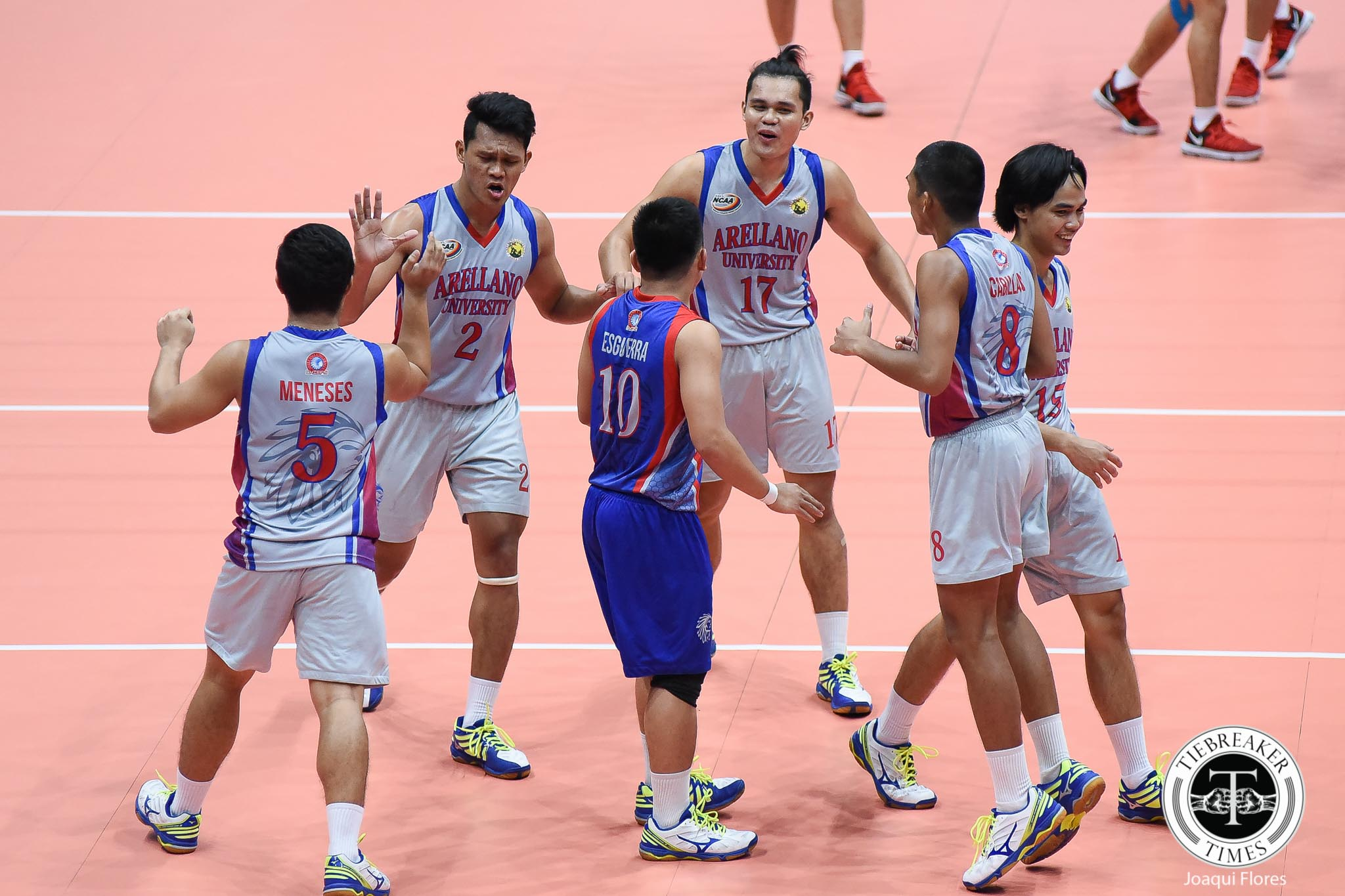 Philippine Sports News - Tiebreaker Times Chiefs romp Knights to keep unbeaten streak AU CSJL NCAA News Volleyball  Sherwin Meneses NCAA Season 93 Men's Volleyball NCAA Season 93 Letran Men's Volleyball Kevin Liberato Joshua Esguerra John Cabillan John Blanco Edmark Meneses Brian Esquibel Bobby Gatdula Arellano Men's Volleyball