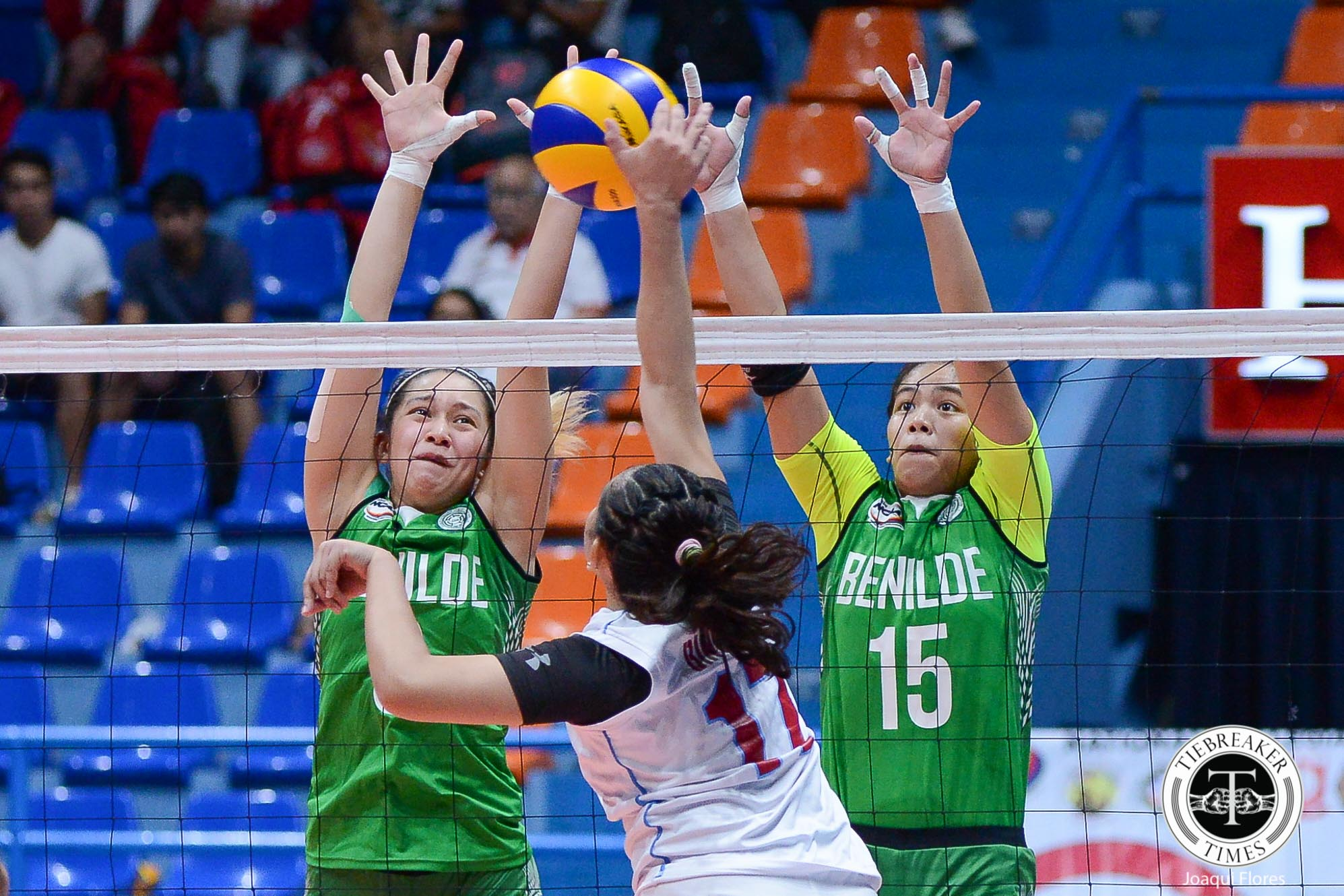 Tiebreaker Times Saint Benilde sends San Sebastian to brink of elimination CSB CSJL EAC NCAA News SSC-R Volleyball  San Sebastian Women's Volleyball Saint Benilde Women's Volleyball Roger Gorayeb Rod Palmero Rocelyn Hongria Rachel Austero NCAA Season 94 Women's Volleyball NCAA Season 94 Melanie Torres Maryrhose Dapol Lyceum Women's Volleyball Klarissa Abriam Jewel Lai Jerry Yee Jaylene Lumbo Emil Lontoc EAC Women's Volleyball Bien Juanillo