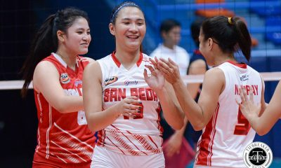 Tiebreaker Times San Beda survives slow start, Lyceum to remain undefeated LPU NCAA News SBC Volleyball  San Beda Women's Volleyball Rebecca Cuevas Nieza Viray Nemesio Gavino NCAA Season 93 Women's Volleyball NCAA Season 93 Monica Sevilla Lyceum Women's Volleyball Justin Buno Emil Lontoc Daryl Racraquin Cesca Racraquin