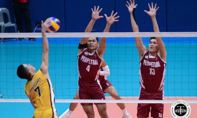 Tiebreaker Times Altas surge to fifth straight win, slam Heavy Bombers JRU NCAA News UPHSD Volleyball  Wenjo Lahaylahay Warren Catipay Sammy Acaylar Ryan Dela Paz Ronniel Rosales Rey Taneo Perpetual Men's Volleyball Patrick Rabaja NCAA Season 93 Men's Volleyball NCAA Season 93 JRU Men's Volleyball Jack Kalingking