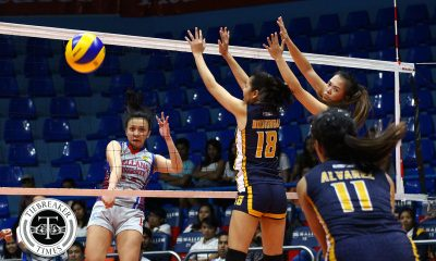 Tiebreaker Times Undefeated Arellano halts JRU's winning streak AU JRU NCAA News Volleyball  Shola Alvarez Rhea Ramirez Regine Arocha Obet Javier NCAA Season 93 Women's Volleyball NCAA Season 93 Mia Teoseco JRU Women's Volleyball Jovielyn Prado Faye Flores Dolly Versoza Arellano Women's Volleyball