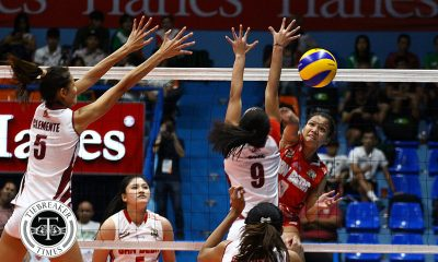 Tiebreaker Times Lady Red Spikers eke out tight win over Lady Altas NCAA News SBC UPHSD Volleyball  San Beda Women's Volleyball Rebecca Cuevas Perpetual Women's Volleyball Nieza Viray Nemesio Gavino NCAA Season 93 Women's Volleyball NCAA Season 93 Michael Carino Lourdes Clemente Francesca Racraquin Daryl Racraquin Cindy Imbo