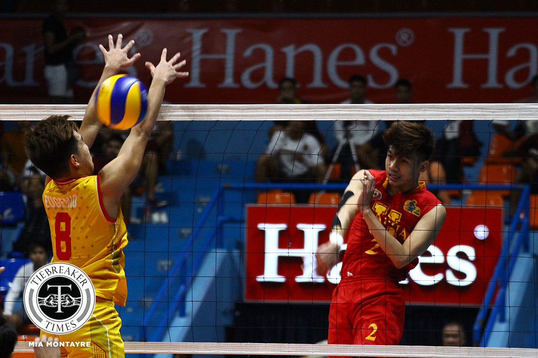 Tiebreaker Times Cardinals blast Golden Stags for third win MIT NCAA News SSC-R Volleyball  San Sebastian Men's Volleyball Paul Jan Dolorias NCAA Season 93 Men's Volleyball NCAA Season 93 Mark Jason Egan Mapua Men's Volleyball Lizendo Bondoc Jahir Ebrahim Francis Evangelista Clint Malazo Anjo Pertierra Alfredo Pagulong