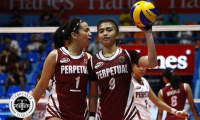 Tiebreaker Times Perpetual makes short work of Mapua for solo third MIT NCAA News UPHSD Volleyball  Trisha Coching Perpetual Women's Volleyball Paul Jan Doloiras Necelle Gual NCAA Season 93 Women's Volleyball NCAA Season 93 Marijo Medalla Mapua Women's Volleyball Lourdes Clemente Jowie Verzosa Dianne Latayan Bianca Tripoli