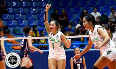 Tiebreaker Times Lady Blazers continue hot run, hand Lady Cardinals to second winless season CSB MIT NCAA News Volleyball  Saint Benilde Women's Volleyball Ranya Musa Rachel Austero Paul Jan Doloiras NCAA Season 93 Women's Volleyball NCAA Season 93 Melanie Torres Mapua Women's Volleyball Lorraine Barias Katrina Racelis Jela Pena Danielle Lim Chie Cardiente Arnold Laniog