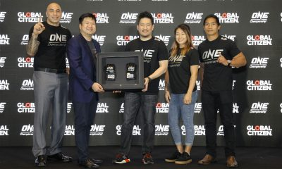 Tiebreaker Times ONE Championship pledges to help Global Citizen in fight against poverty Mixed Martial Arts News ONE Championship  ONE: Global Heroes Eduard Folayang Chatri Sityodtong Brandon Vera Angela Lee