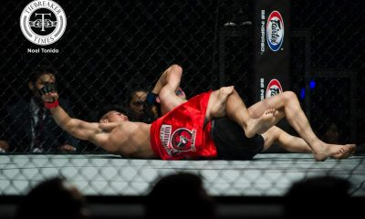 Philippine Sports News - Tiebreaker Times Joshua Pacio electrifies home crowd, dominates Lan Ming Qiang Mixed Martial Arts News ONE Championship  ONE: Global Heroes Lan Ming Qiang Joshua Pacio