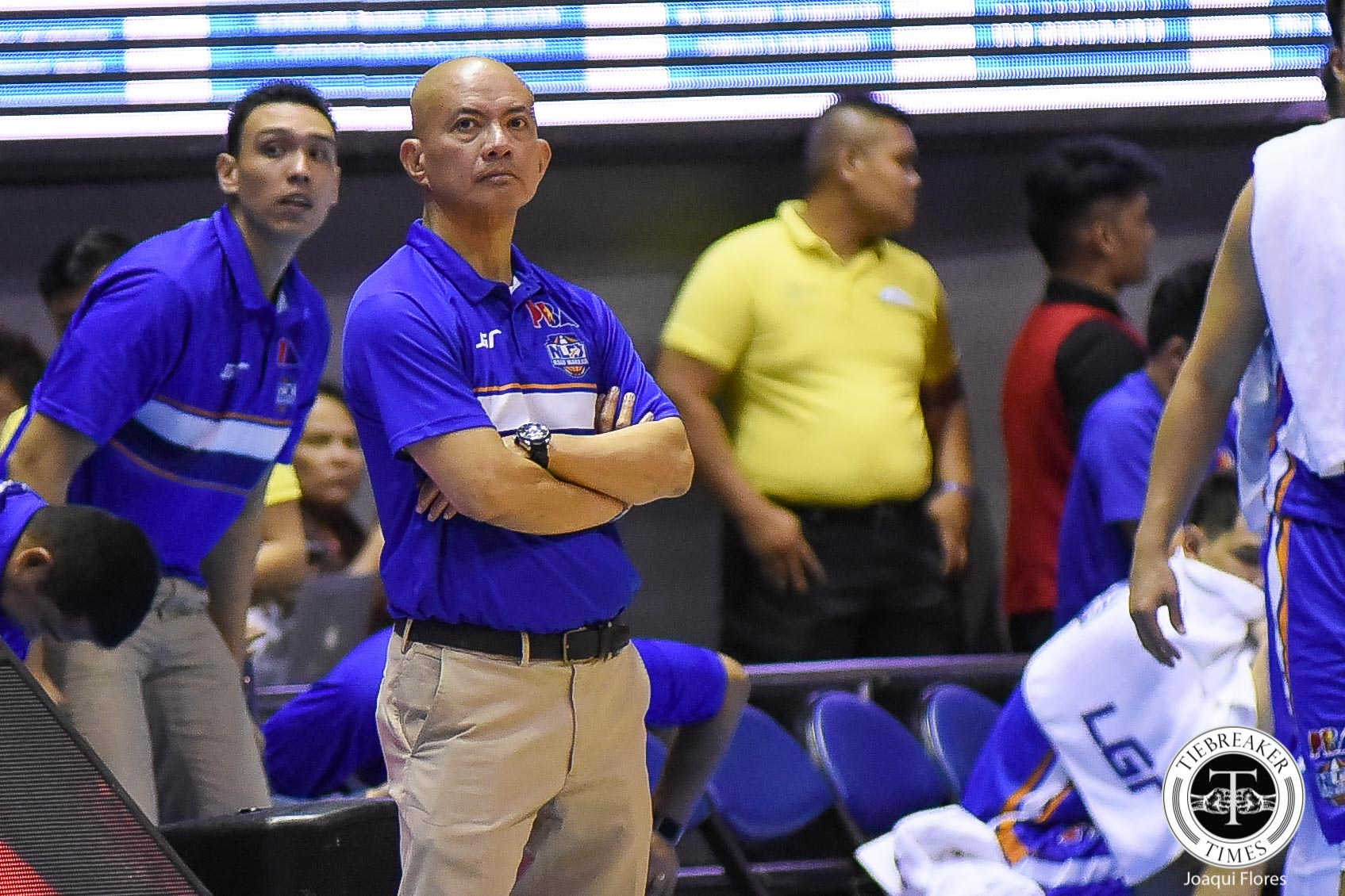 Tiebreaker Times Yeng Guiao hints at changes after NLEX falls to 1-4 Basketball News PBA  Yeng Guiao PBA Season 43 NLEX Road Warriors Arnett Moultrie 2018 PBA Commissioners Cup