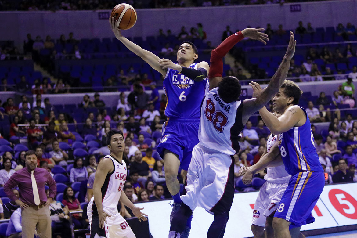Philippine Sports News - Tiebreaker Times NLEX ends Alaska's six-game winning streak Basketball News PBA  Yeng Guiao Vic Manuel Raul Soyad PBA Season 43 NLEX Road Warriors Larry Fonacier Kiefer Ravena Kevin Alas JVee Casio Jeron Teng Calvin Abueva Alex Compton Alaska Aces 2017-18 PBA Philippine Cup