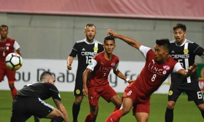 Tiebreaker Times Manuel Herrera header spares Ceres-Negros' blushes against 10-man Home United AFC Cup Football News PFL  Toni Dobias Risto Vidakovic Manuel Herrera Home United Ceres-Negros FC 2018 AFC Cup Group F 2018 AFC Cup