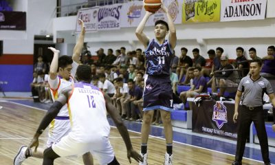 Tiebreaker Times Jonathan Espeleta sparks, Sean Manganti finishes as Akari-Adamson bounces back against Go for Gold AdU Basketball CSB News PBA D-League  Sean Manganti Kurt Lojera Jonathan Espeleta Jerrick Ahanmisi Jerom Lastimosa Go-for-Gold Scratchers Akari-Adamson Soaring Falcons 2018 PBA D-League Season 2018 PBA D-League Aspirants Cup