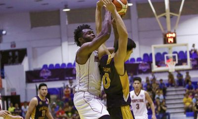 Tiebreaker Times Prince Eze sets D-League record for blocks as Perpetual stuns JRU Basketball JRU News PBA D-League UPHSD  Prince Eze Perpetual Seniors Basketball Leonardo Esguerra JRU Seniors Basketball John Villanueva Jed Mendoza Jeckster Apinan Gio Lasquety Frankie Lim AJ Coronel 2018 PBA D-League Season 2018 PBA D-League Aspirants Cup