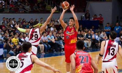 Tiebreaker Times Rain or Shine runs past San Miguel, books playoffs spot Basketball News PBA  San Miguel Beermen Rain or Shine Elasto Painters Philippine Sports News PBA Season 43 Mark Borboran Marcio Lassiter Leo Austria June Mar Fajardo Jewel Pnferada Caloy Garcia Beau Belga Alex Cabagnot 2017-18 PBA Philippine Cup
