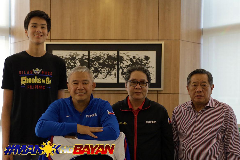 Philippine Sports News - Tiebreaker Times Chooks-to-Go pledges to expose Kai Sotto overseas Basketball Gilas Pilipinas News  Ronald Mascarinas Kai Sotto Chot Reyes Chooks-to-Go 2023 FIBA World Cup