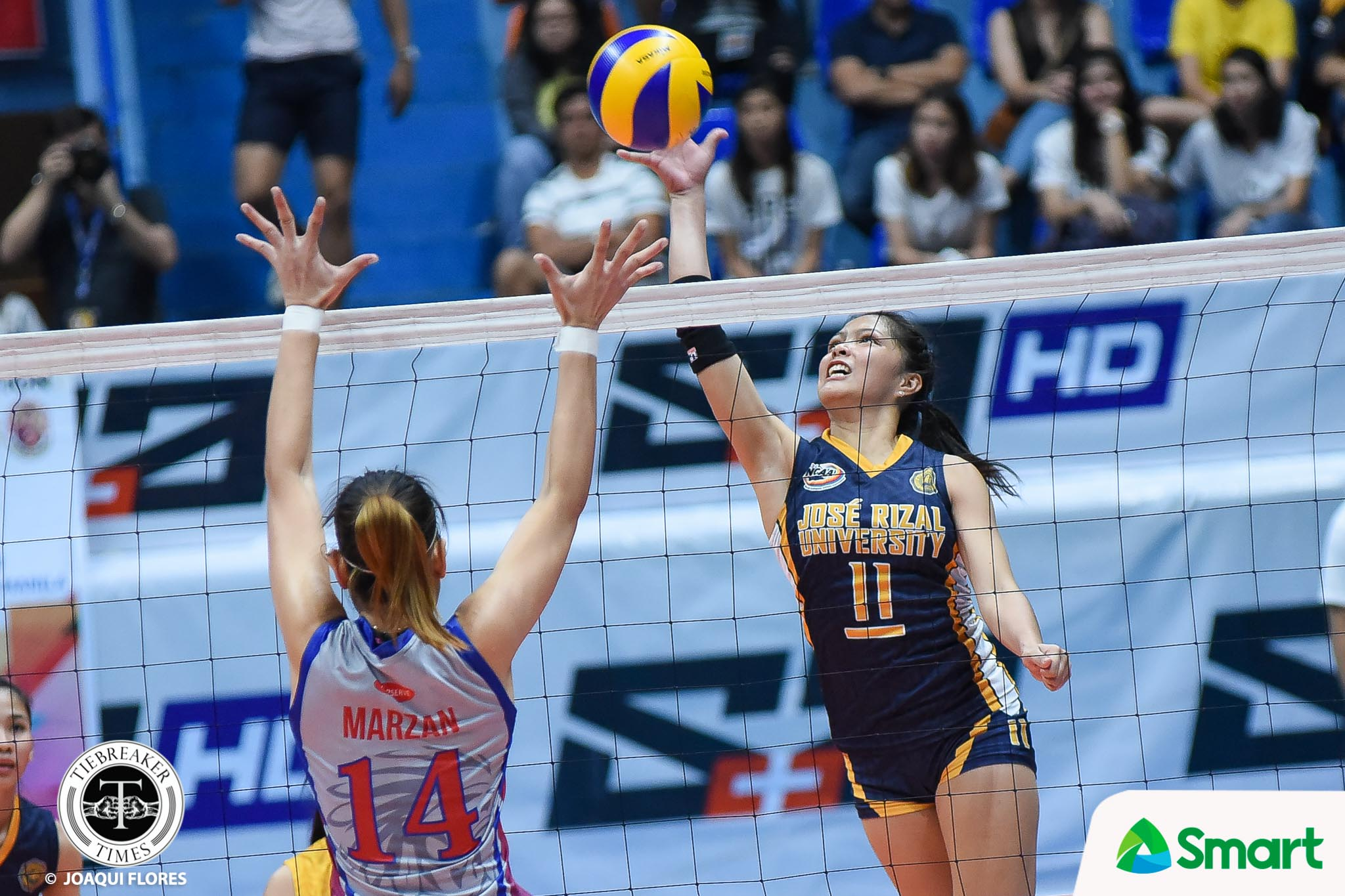 Philippine Sports News - Tiebreaker Times Shola Alvarez leaves lasting mark on JRU, sets sight on beach volley JRU NCAA News Volleyball  Shola Alvarez NCAA Season 93 Women's Volleyball NCAA Season 93 Mia Tioseco JRU Women's Volleyball