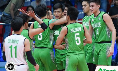 Tiebreaker Times Saint Benilde outlasts San Beda to advance in stepladder CSB NCAA News SBC Volleyball  San Beda Men's Volleyball Saint Benilde Men's Volleyball Nes Pamilar NCAA Season 93 Men's Volleyball NCAA Season 93 Mark Enciso Limuel Patenio Kevin Magsino Jethro Orian JC Santos Isaah Arda Francis Basilan Aljan Dy