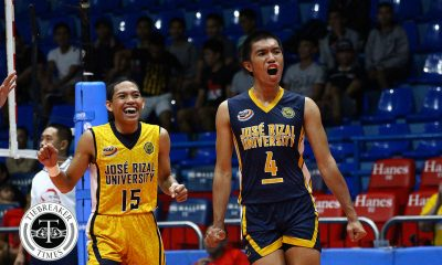 Tiebreaker Times Patrick Rabaja, JRU outguns Jhonel Badua-powered Lyceum to end season on high note JRU LPU NCAA News Volleyball  Wilbert Cebrero Wenjo Lahaylahay Ryan Dela Paz Patrick Rabaja NCAA Season 93 Men's Volleyball NCAA Season 93 Melvyn Defensor Lyceum Men's Volleyball JRU Men's Volleyball Joeward Presnede Jhonel Badua Hernan Salazar Emil Lontoc