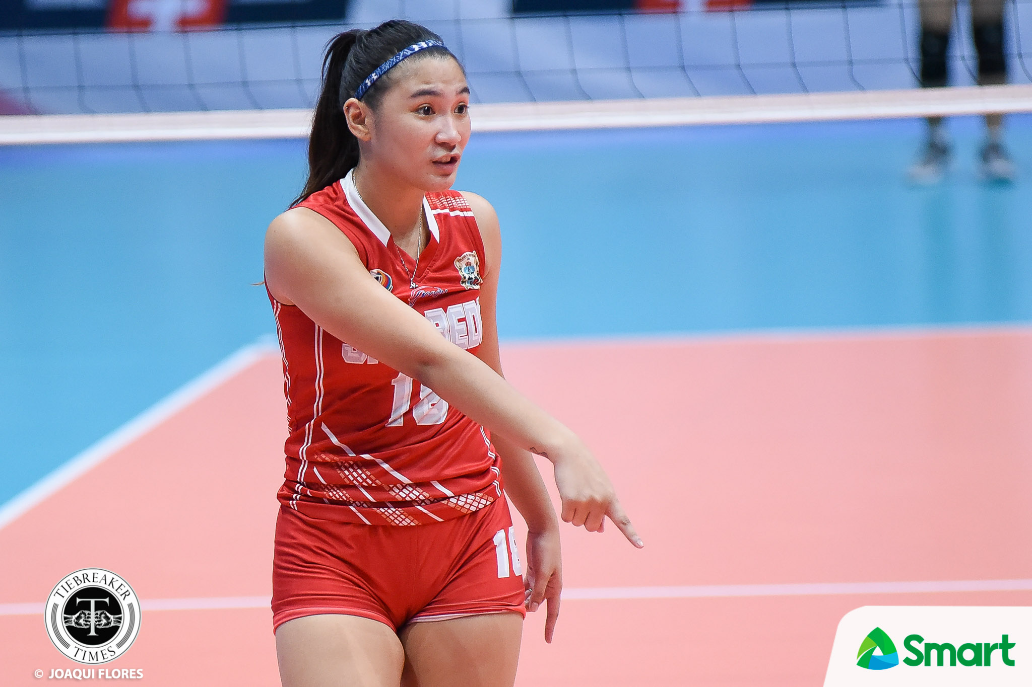 Philippine Sports News - Tiebreaker Times San Beda no longer intimidated by Arellano, says Cesca Racraquin NCAA News SBC Volleyball  San Beda Women's Volleyball NCAA Season 93 Women's Volleyball NCAA Season 93 Cesca Racraquin