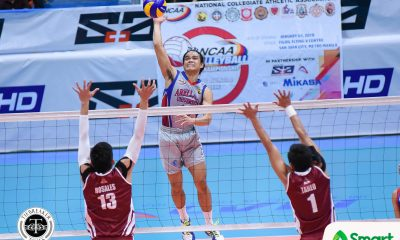 Tiebreaker Times Christian Dela Paz detonates to push Arellano to Game One win AU NCAA News UPHSD Volleyball  Sherwin Meneses Sammy Acaylar Rey Taneo Perpetual Men's Volleyball NCAA Season 93 Men's Volleyball NCAA Season 93 Joshua Esguerra John Patrick Ramos Joebert Almodiel Edmark Meneses Christian dela Paz Arellano Men's Volleyball