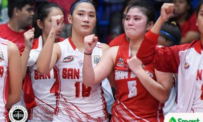 Philippine Sports News - Tiebreaker Times Cesca Racraquin holds head up high: 'We will be back with a vengeance' NCAA News SBC Volleyball  San Bade Women's Volleyball NCAA Season 93 Women's Volleyball NCAA Season 93 Cesca Racraquin