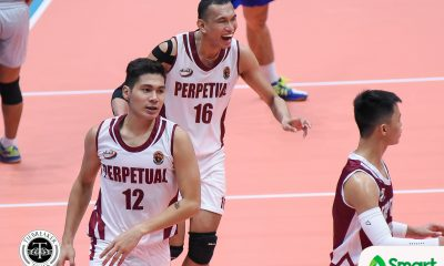 Tiebreaker Times Perpetual surges past Saint Benilde; Letran rallies past JRU CSB CSJL JRU NCAA News UPHSD Volleyball  Sammy Acaylar Saint Benilde Men's Volleyball Ryan Dela Paz Perpetual Men's Volleyball Patrick Rabaja NCAA Season 94 Men's Volleyball NCAA Season 94 Letran Men's Volleyball June Laxina JRU Men's Volleyball Joebert Almodiel Jhomar Real Gilbert Balmores Gabriel Cansana Christopher Cistina Brian Esquibel Arnold Laniog Angel Canzana Andrei Tongco Aljoe Sereno
