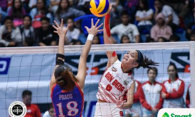 Tiebreaker Times San Beda foils Arellano sweep, forces Final Four AU NCAA News SBC Volleyball  San Beda Women's Volleyball Regine Arocha Princess Bello Obet Javier Nieza Viray Nemesio Gavino Jr. Necole Ebuen NCAA Season 94 Women's Volleyball NCAA Season 94 Jeziela Viray Cesca Racraquin Arellano Women's Volleyball