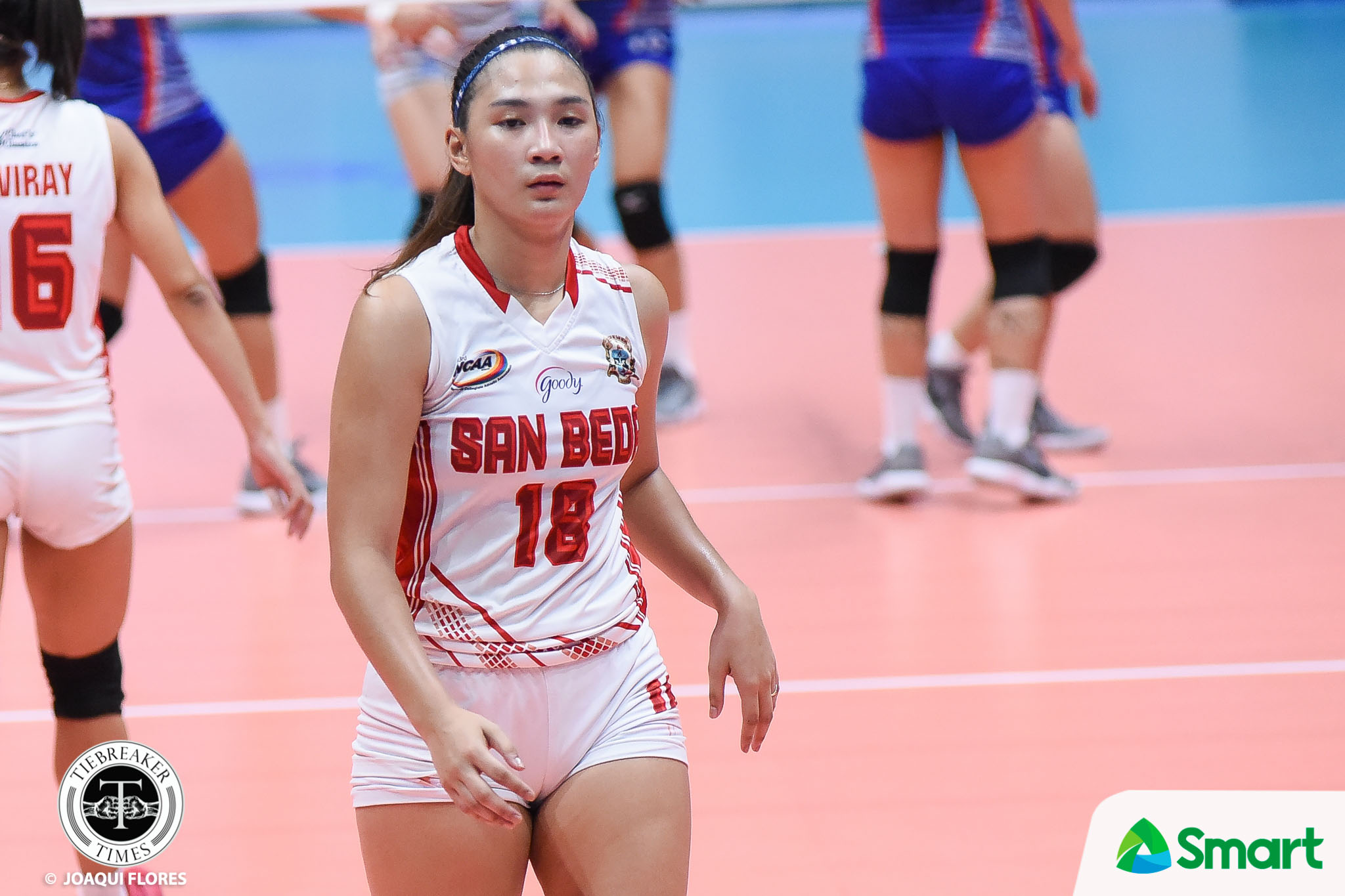 Tiebreaker Times Cesca Racraquin holds head up high: 'We will be back with a vengeance' NCAA News SBC Volleyball  San Bade Women's Volleyball NCAA Season 93 Women's Volleyball NCAA Season 93 Cesca Racraquin