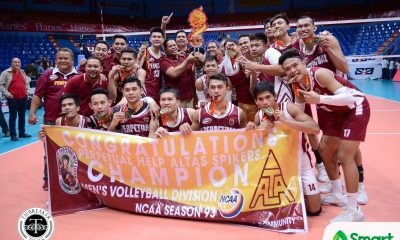 Philippine Sports News - Tiebreaker Times Perpetual completes epic comeback to claim 11th title AU NCAA News UPHSD Volleyball  Sherwin Meneses Sammy Acaylar Ronniel Rosales Rey Taneo Perpetual Men's Volleyball NCAA Season 93 Men's Volleyball NCAA Season 93 Joebert Almodiel Jack Kalingking Demy Lapuz Christian dela Paz Arellano Men's Volleyball