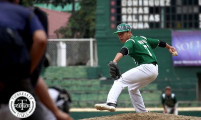 Tiebreaker Times 'Disappointing' Green Batters shut out short-handed Bulldogs for solo first Baseball DLSU News NU UAAP  UAAP Season 80 Baseball UAAP Season 80 Sheerwin Acta Saki Bacarisas NU Baseball Kiko Gesmundo Joseph Orillana Ignacio Escano DLSU Baseball