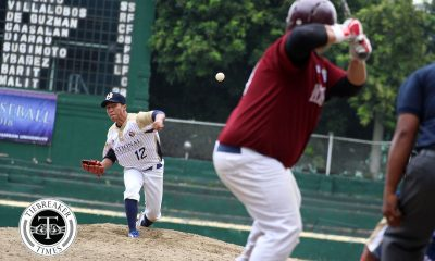 Tiebreaker Times NU barges into win column at UP's expense Baseball News NU UAAP UP  UP Baseball UAAP Season 80 Baseball UAAP Season 80 Saki Bacarisas NU Baseball Kenneth Marinas Junmar Diarao Clarence Caasalan Anthony Dizzer Alfredo De Guzman