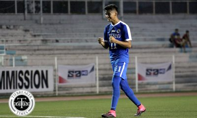 Philippine Sports News - Tiebreaker Times Jarvey Gayoso rises above the noise, silences naysayers ADMU Football News UAAP  UAAP Season 80 Men's Football UAAP Season 80 Jarvey Gayoso Ateneo Men's Football