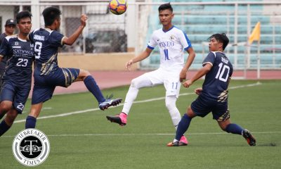 Tiebreaker Times Birthday boy Jarvey Gayoso stars as Ateneo notches first win over skidding NU ADMU Football News NU UAAP  UAAP Season 80 Men's Football UAAP Season 80 Rupert Baña NU Men's Football Mari Aberasturi John Paul Merida Jeremiah Rocha Jekar Sullano Jarvey Gayoso Ateneo Men's Football AJ Arcilla