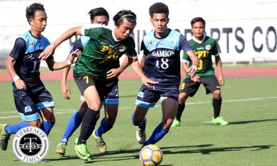 Tiebreaker Times Rico Andes hattrick highlights Tamaraws rout of Soaring Falcons to nail first win AdU FEU Football News UAAP  UAAP Season 80 Men's Football UAAP Season 80 Rico Andes Park Bo Bae Nolan Manito Harold Alcoresa FEU Men's Football Dave Parac Carl Viray Audie Menzi Alex Rayos Adamson Men's Football