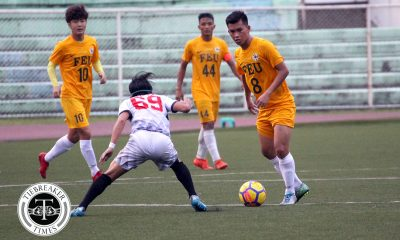 Tiebreaker Times FEU survives misfiring UE to earn first point of the season FEU Football News UAAP UE  Vince Santos UE Men's Football UAAP Season 80 Men's Football UAAP Season 80 RJ Joyel Jasper Absalon Frank Rieza Fitch Arboleda FEU Men's Football