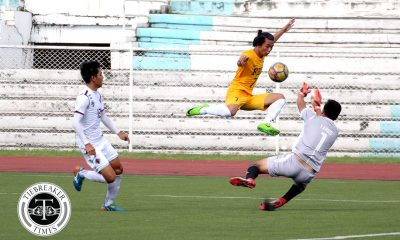 Tiebreaker Times Donggyu Jung's strike rescues point for FEU against wasteful UP FEU Football News UAAP UP  UP Men's Football UAAP Season 80 Men's Football UAAP Season 80 Jose Yared JB Borlongan FEU Men's Football Donggyu Jong Dave Parac Bo Bae Park Anto Gonzales