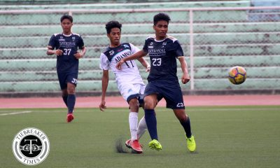 Tiebreaker Times Last-gasp Jekar Sullano goal lifts NU to fourth, stuns wasteful La Salle DLSU Football News NU UAAP  UAAP Season 80 Men's Football UAAP Season 80 Paeng De Guzman NU Men's Football Mari Aberasturi Jekar Sullano Hans-Peter Smit DLSU Men's Football Chris Perocho