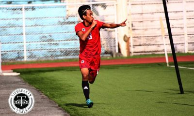Philippine Sports News - Tiebreaker Times Jasper Absalon hits target as UE edges out Adamson to create Final Four logjam AdU Football News UAAP UE  UE Men's Football UAAP Season 80 Men's Football UAAP Season 80 Nolan Manito Jasper Absalon Frank Rieza Fitch Arboleda Carl Viray Adamson Men's Football
